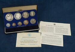 1979 Jamaica 9 Coin Proof Set - Free Shipping Usa