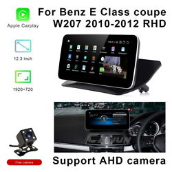 12.3 Android Car Gps Video Player Wifi Carplay For Benz E Class Coupe 2010+ Rhd