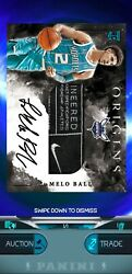 Panini Dunk App Digital Trading Card Lamelo Ball 20-21 Panini Origins Rc Rpa 1/1