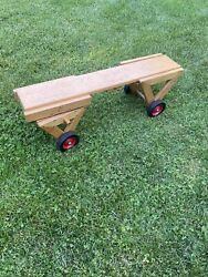 Rare - Vintage - Community Rifton N.y. - Wooden Childrenandrsquos Ride On / Push Toy