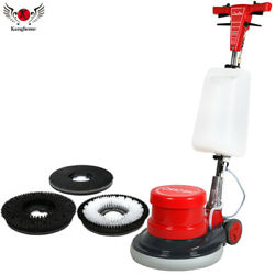 17 Commercial High Speed Floor Washing Machine Burnisher 2 Brushes + 1 Pad