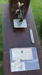 Eldredge B Sewing Machine With Treadle Stand Antique 1800s Paperwork Included