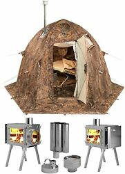 Combo Hot Tent With Stove For Cold Weather Outfitter Outdoor Hunting Fishing