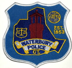 Waterbury Connecticut Ct Sheriff Police Patch Tower Scale Of Justice