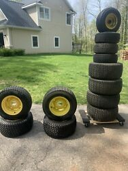 John Deere 140 210 212 214 216 300 318 322 - Front And Rear Rims-tires.