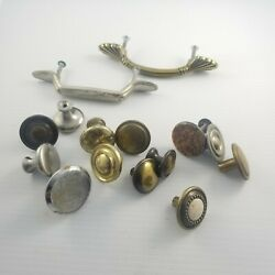 Mixed Metal Pulls Lot Assorted Knobs Vintage Kitchen Assortment Cabinet Drawer