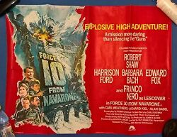 Force 10 From Navarone 1978 Uk Quad Poster 30 X 40