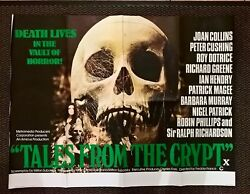 Tales From The Crypt 1972 Original Uk Quad Poster 30 X 40