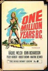 One Million Years Bc 1966 Original Uk Double Crown Poster .30 X 20 Inches