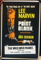 Point Blank 1967 Original Uk Double Crown Poster .30 X 20 Inches