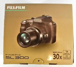 Fujifilm S Series Sl300 Long 30x Optical Zoom 14 Mp Digital Camera - Red