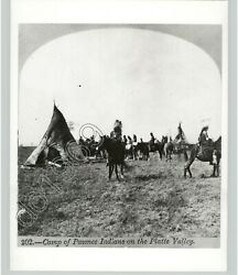 Pawnee Native American Camp In Platte Valley 1870s Plains Indians 1950s Photo