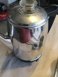 Vintage General Electric 8 Cup Coffee Percolator Cat. A1cm10