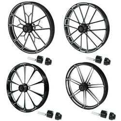 30and039and039 Front Wheel Rim Wheel Hub Single Disc Fit For Harley Road King Glide 08-21
