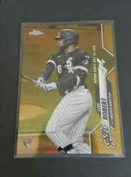 2020 Topps Chrome Update Luis Robert Gold Refractor Gold Wave Rc /50 White Sox