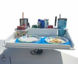 Docktail Bar Boat Utility Table With Cup Holders And Storage - Mounts In Rod ...