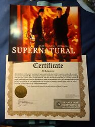 8x10 Photo Supernatural Signed By Jensen Ackles And Jared Padalecki With Coa