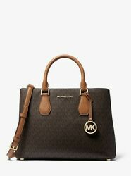 Michael Camille Large Logo And Leather Satchel