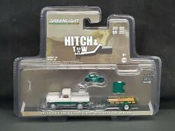 Greenlight Hitch And Tow 72 Ford F-100 And Trailer And 1920 Indian Scout Green Machine