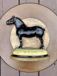 Rare Black Horse Ale Beer Brewery Equestrian Advertising Sign