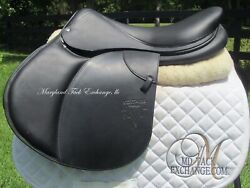 18.5 Voltaire Design Calgary Black Close Contact Jumping Saddle-brand New