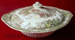 Johnson Brothers Friendly Village Made In England Round Covered Serving Bowl