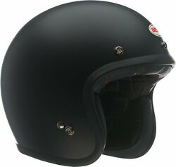 Bell Custom 500 Open-face Motorcycle Helmet Solid Matte Black D.o.t. Ece
