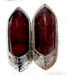 1949 Buick Tail Lights Pair Genuine Guide R-49 Used 18