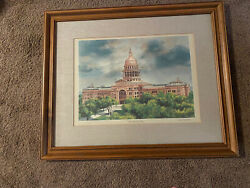 Donald F Mitchell State Capitol Of Texas Print Framed Signed/numbered Austin