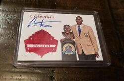 Cris Carter 2017 Flawless Hall Of Fame Class Of 2013 Auto Card Ssp 04/05 Vikings