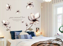 Removable Flowers Art Wall Sticker Vinyl Mural Wall Decal Home Room Decor DIY SY