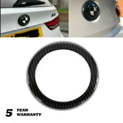Carbon Fiber Rear Badge Logo Ring Cover Decoration For Bmw X5 X6 X5m F15 F16 F85