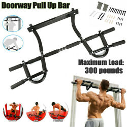 Pull Up Bar Chin-up Exercise Heavy Duty Doorway Fitness Gym Upper Body Work Bo