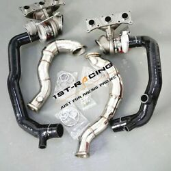 Td04l 16t Twin Turbos+inlet Pipes+catless Downpipes For 07-11 Bmw N54 335xi 3.0l