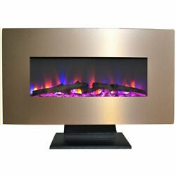 36 Wall Mount And Free Standing Electric Fireplace W/ Logs