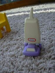 Little Tikes Vacuum Cleaner Doll House Sized 4 Inch Toy Vintage