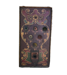 Antique Turn Of The Century Carnival Palm Reading Game Beautifully Hand Painted