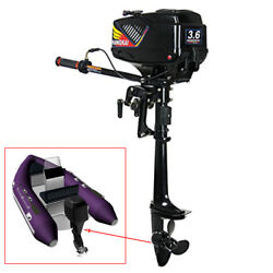 Hangkai 3.6hp 2stroke Outboard Motor Fishing Boat Engine Water Cooled Cdi System