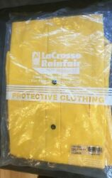 Lacrosse Rainfair Safety Products X Large Yellow Rain Coat With Hood