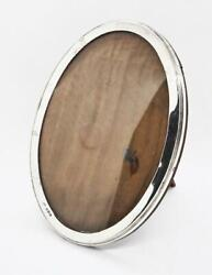 Antique Sterling Silver Oval Photograph / Picture Frame Birmingham 1919