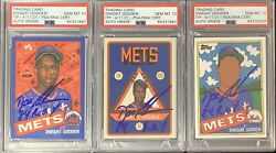Doc Gooden Signed Topps Project 2020 Set Of 3 184 106 119 Mets Psa/dna Auto 10