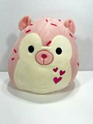 Squishmallow Pink Hedgehog Marco Pink Hearts 8 Rare Plush Pillow Toy