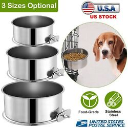 Clip On Cage Coop Cup Hook Water Feeding Bowl Dog Cat Bird Hamster Reptile Dish