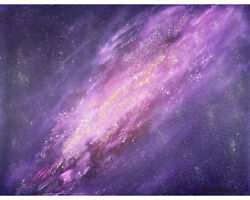 Galaxy And Stars In Space Large Original Oil Painting, Fantasy Celestial Art