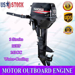 Hangkai 12 Hp Outboard Motor Marine Boat Engine 2 Stroke With Cdi Water Cooling
