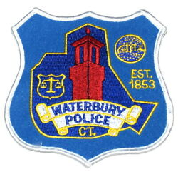 Waterbury Connecticut Ct Sheriff Police Patch Watchtower Scale Of Justice