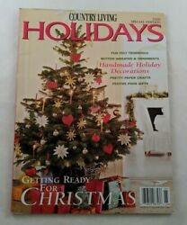 Country Living Holiday Special Edition 2000 Handmade Decorations Christmas