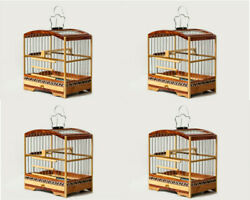 Kit Of 4 X-small Special Wooden Transportation Female Cage