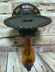 Partylite Global Fusion Wall Sconce Mosaic Peglite Taper Pillar Candle Holder