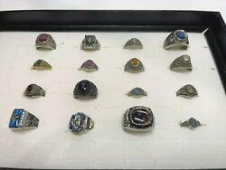 16 Pcs Vintage Mixed Assorted Sports Class Championship Jostens Rings 4
